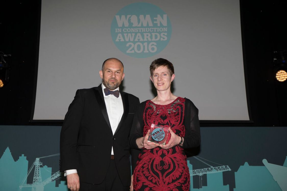 Harriet Kirk, winner of Engineer of the Year Award and Grahame Carter, Head of Infrastructure, Matchtech