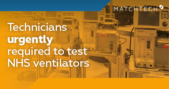Technicians urgently required to test NHS ventilators